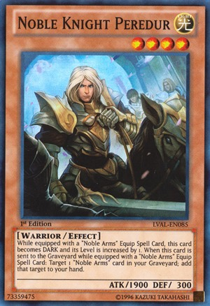 Noble Knight Peredur - LVAL-EN085 - Super Rare - Unlimited