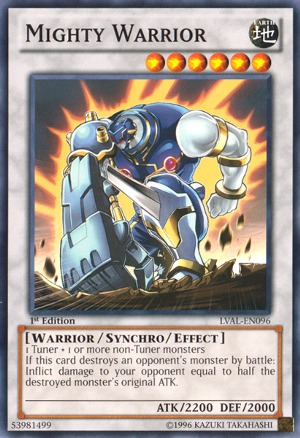 Mighty Warrior - LVAL-EN096 - Common - Unlimited