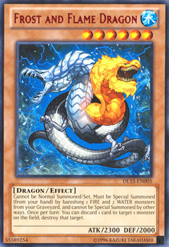 Frost and Flame Dragon - Red - DL15-EN005 - Rare - Unlimited Edition