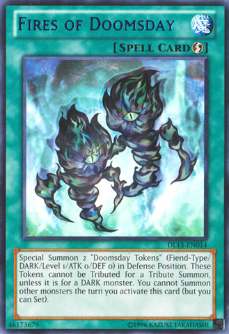 Fires of Doomsday - Blue - DL15-EN014 - Rare - Unlimited Edition