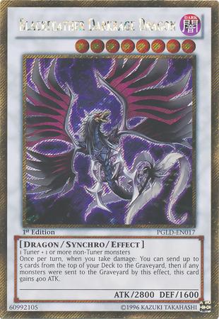 Blackfeather Darkrage Dragon - PGLD-EN017 - Gold Secret Rare - 1st Edition