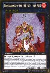 Brotherhood of the Fire Fist - Tiger King - PGLD-EN045 - Gold Rare - 1st Edition on Channel Fireball