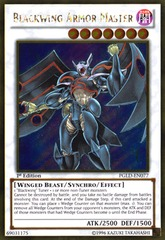 Blackwing Armor Master - PGLD-EN077 - Gold Rare - 1st Edition on Channel Fireball