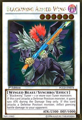 Blackwing Armed Wing - PGLD-EN078 - Gold Rare - 1st Edition on Channel Fireball