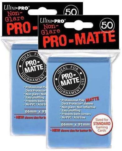 100ct Pro-Matte Light Blue Standard Deck Protectors