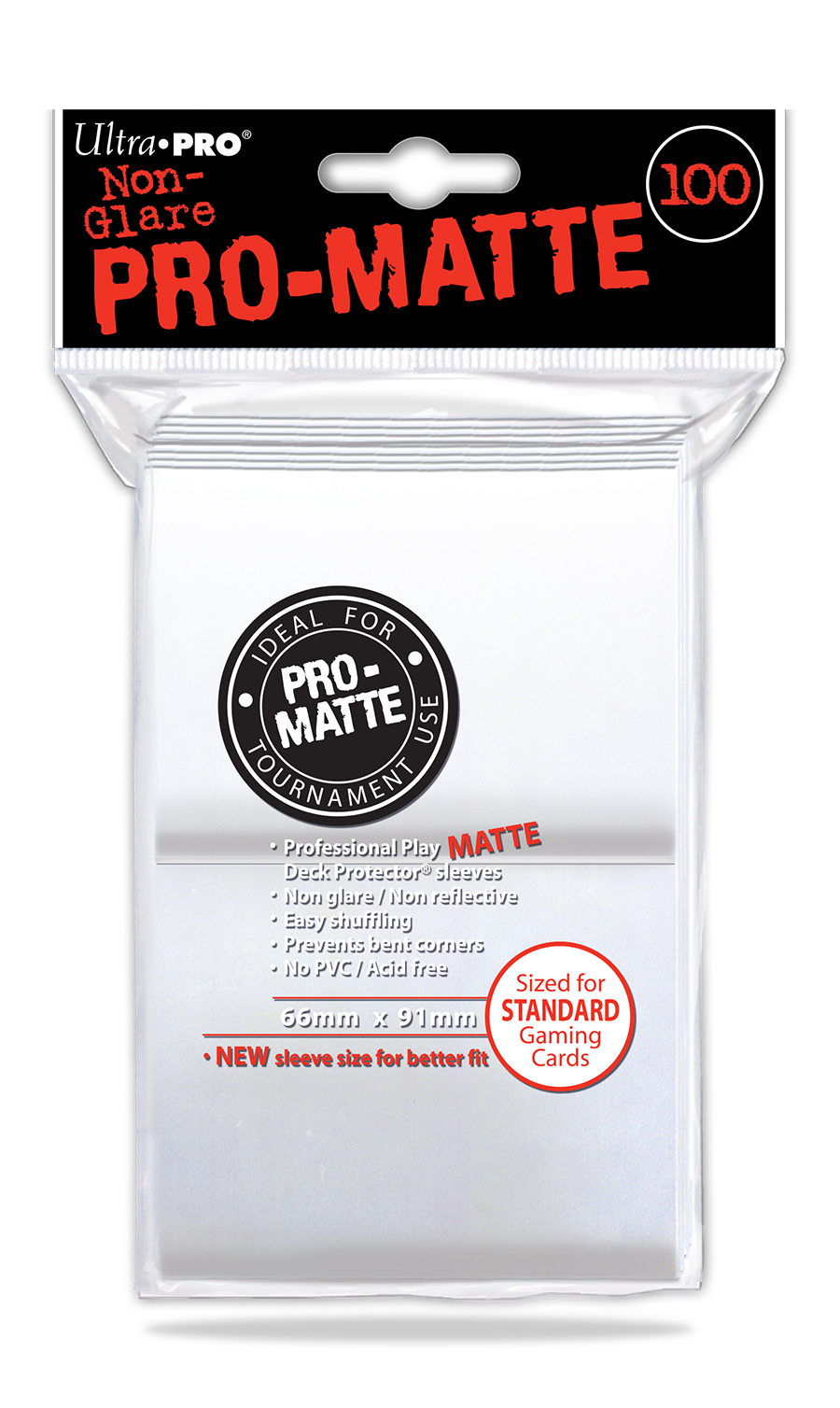 Ultra Pro Pro-Matte Standard Deck Protector Sleeves White 100ct