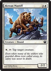 Akroan Mastiff on Channel Fireball