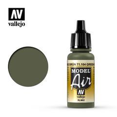 Vallejo Model Air - Acrylic Green RLM62 - VAL71104 - 17ml