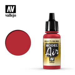Vallejo Model Air - Acrylic Red RLM23 - VAL71102 - 17ml