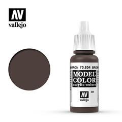 VAL70854 Vallejo Model Color Brown Glaze 17ml (204)