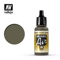 Vallejo Model Air -  Khaki Green Num.3 - VAL71330 - 17ml