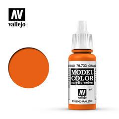 VAL70733 Vallejo Model Color Orange Fluorescent 17ml (207)
