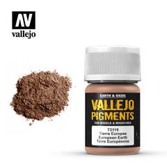 Vallejo Pigments - European Earth - VAL73119 - 200ml