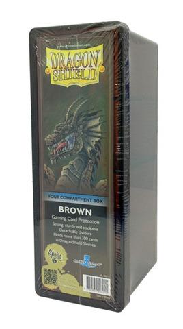 Dragon Shield Four-Compartment Storage Box - Brown