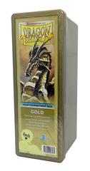 Dragon Shield Four-Compartment Storage Box - Gold