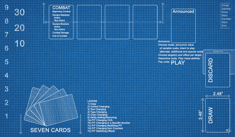 Blueprint playmat accessories playmats fusion gaming blueprint playmat malvernweather Choice Image