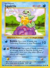 Squirtle - 63/102 - Common - Shadowless Edition