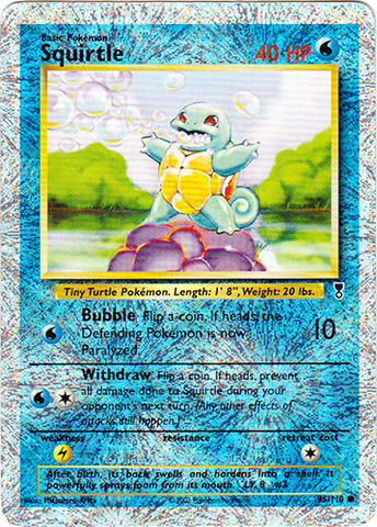 Squirtle - 95/110 - Common - Reverse Holo