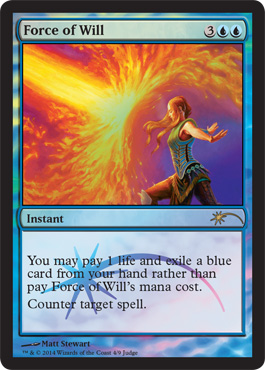 Force of Will - Foil DCI Judge Promo