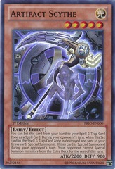 Artifact Scythe - PRIO-EN000 - Super Rare - 1st Edition on Channel Fireball