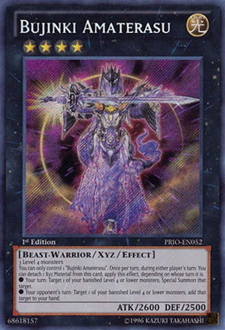 Bujinki Amaterasu - PRIO-EN052 - Secret Rare - 1st Edition
