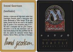 Biography - Svend Geertsen - 1997