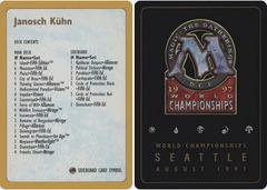 1997 Janosch Kuhn Decklist Card