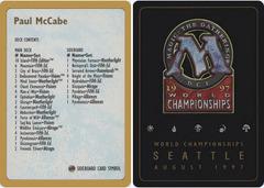 1997 Paul McCabe Decklist Card
