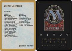 Decklist - Svend Geertsen - 1997