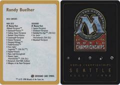 Decklist - Randy Buehler - 1998