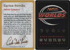 Biography - Carlos Romao - 2002