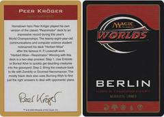 Biography - Peer Kroger - 2003