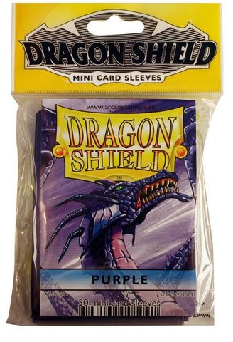 Dragon Shield Mini Card Sleeves (50 ct) - Purple