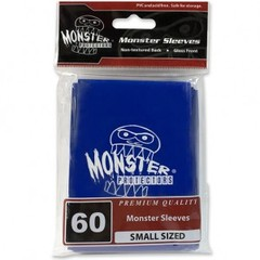 Monster Gloss Logo Small Sleeves (60ct) - Blue