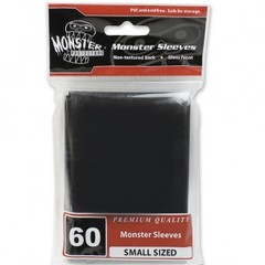 Monster Gloss Small Sleeves (60ct) - Black