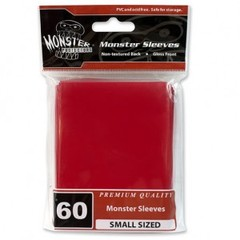 Monster Gloss Small Sleeves (60ct) - Red