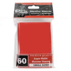 Monster Matte Small Sleeves (60ct) - Red