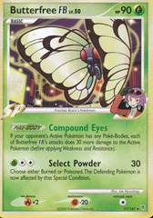Butterfree [FB] - 17/147 - Promotional - Crosshatch Holo Pokemon League Argenta Season 2010 on Channel Fireball