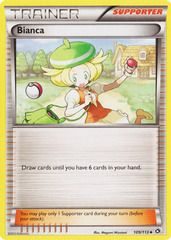 Bianca - 109/113 - Promotional - Mirror Holo Pokemon league Froakie Season 2014 on Channel Fireball