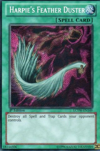 Harpies Feather Duster - LCYW-EN149 - Secret Rare - Unlimited Edition