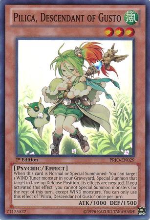 Pilica, Descendant of Gusto - PRIO-EN029 - Super Rare - Unlimited Edition