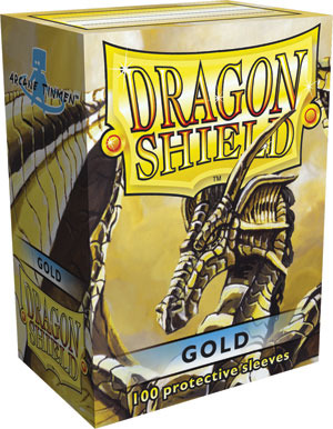 Dragon Shield Box of 100 in Gold