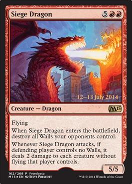 Siege Dragon - Foil - Prerelease Promo