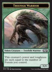Treefolk Warrior Token on Channel Fireball