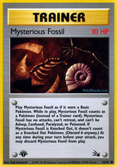 Mysterious Fossil - 62/62 - Common - 1999-2000 Wizards Base Set Copyright