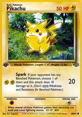 Pikachu - 60/64 - Common - 1999-2000 Wizards Base Set Copyright Edition