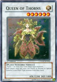 Queen of Thorns - CSOC-EN042 - Super Rare - 1st Edition