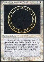 Circle of Protection: Black on Channel Fireball