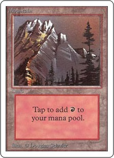 Mountain (Grey Mountain / Red Sky)