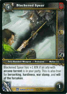 Mr  Nice Guy Games - Blackened Spear - World of Warcraft TCG